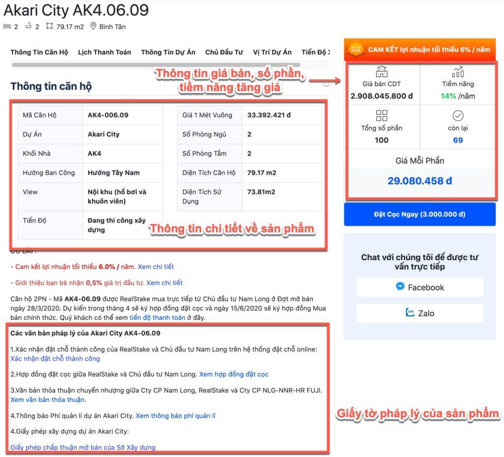 Thông tin chi tiết bất động sản - RealStake