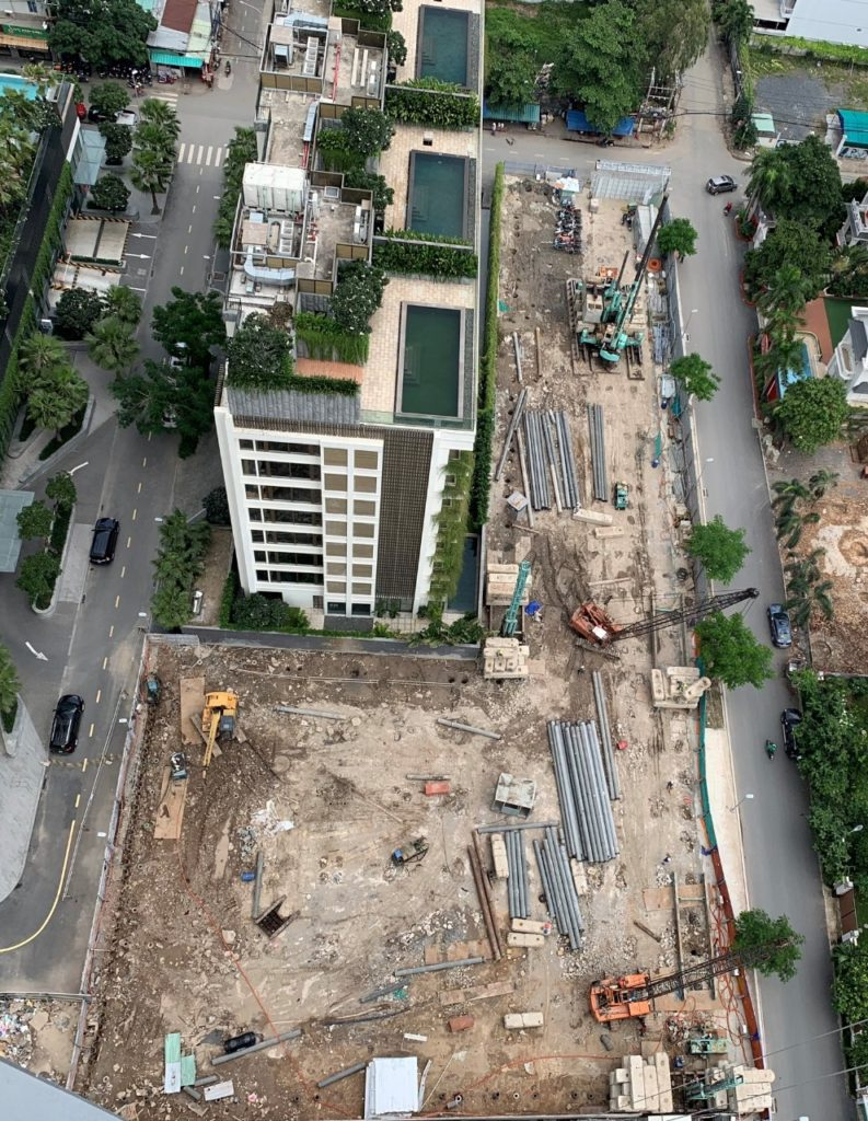 Tiến độ xây dựng Q2 Thao Dien 8-2020