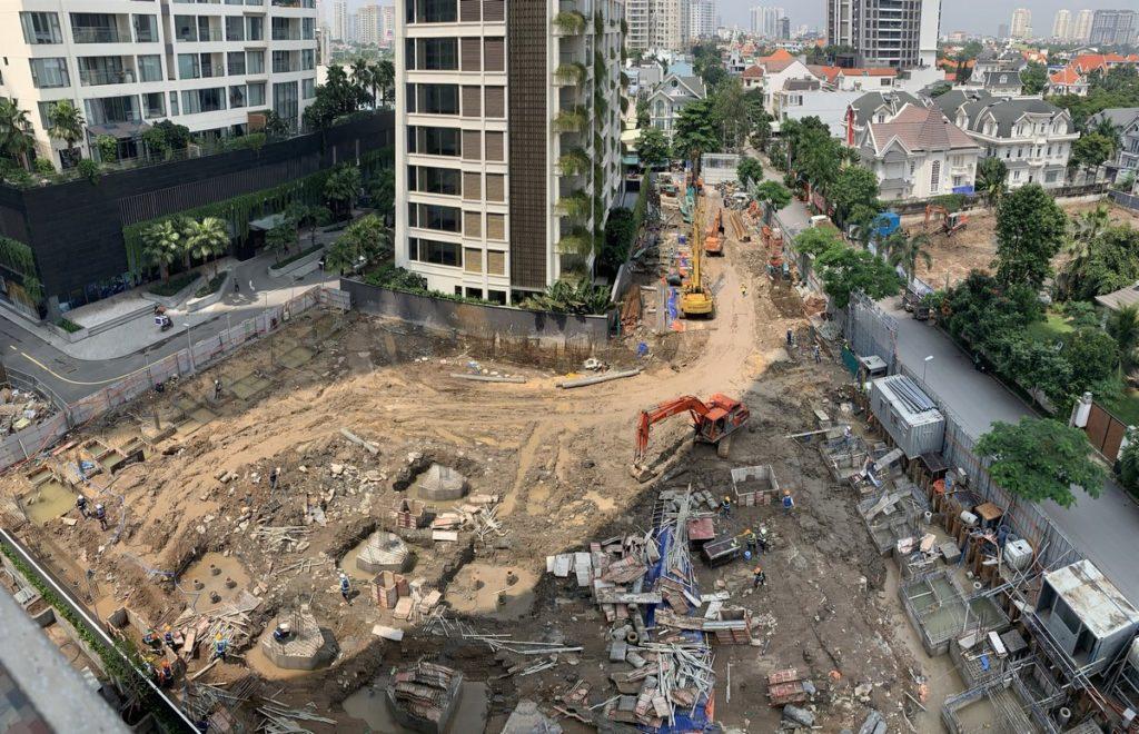 Tiến độ xây dựng Q2 Thao Dien 9-2020