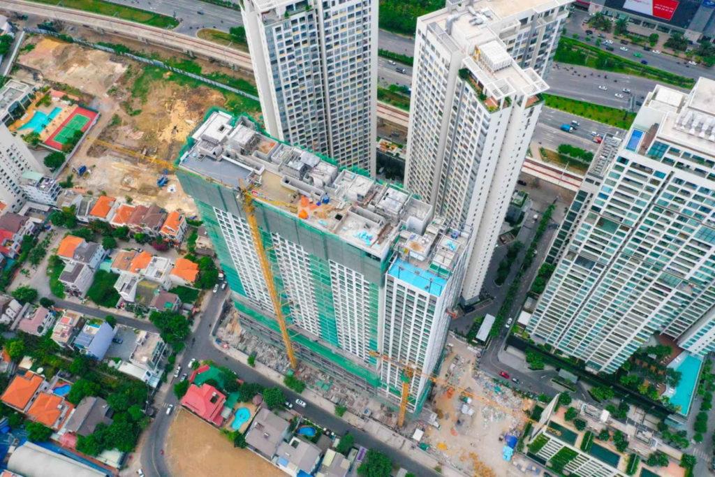 Tiến độ xây dựng Q2 Thao Dien 5-2020