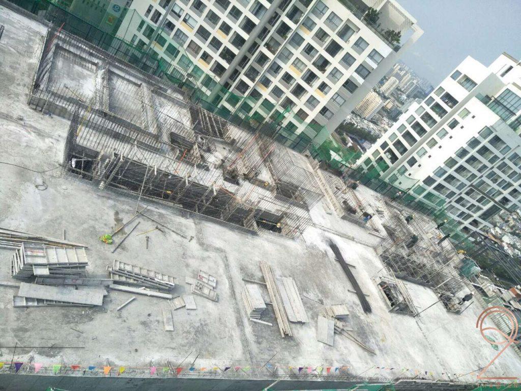 Tiến độ xây dựng Q2 Thao Dien 4-2020