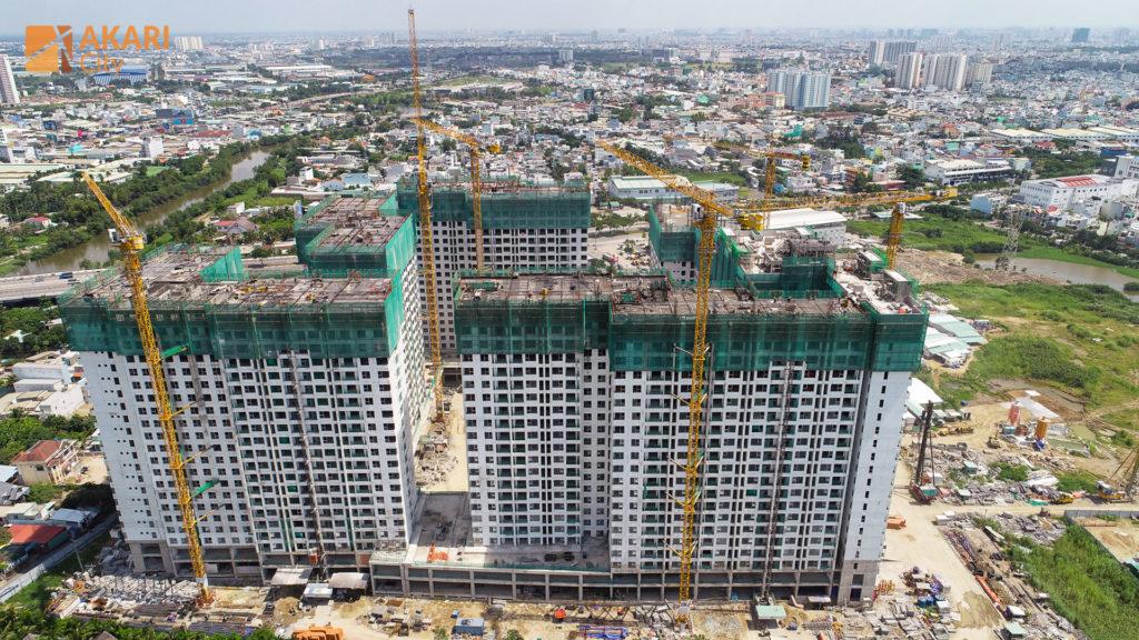 Tiến độ xây dựng Akari City 8-2020