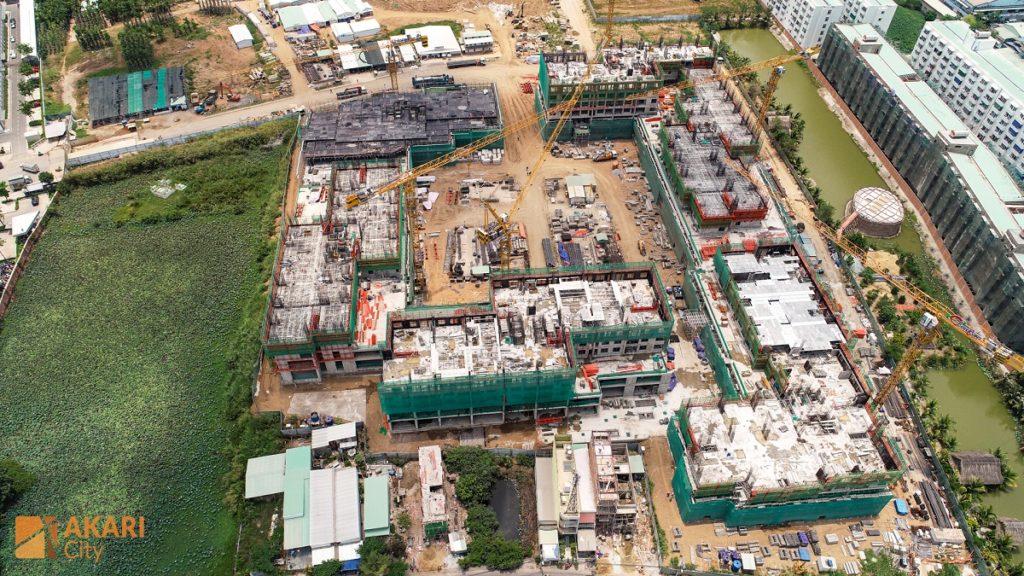 Tiến độ xây dựng Akari City 4-2020