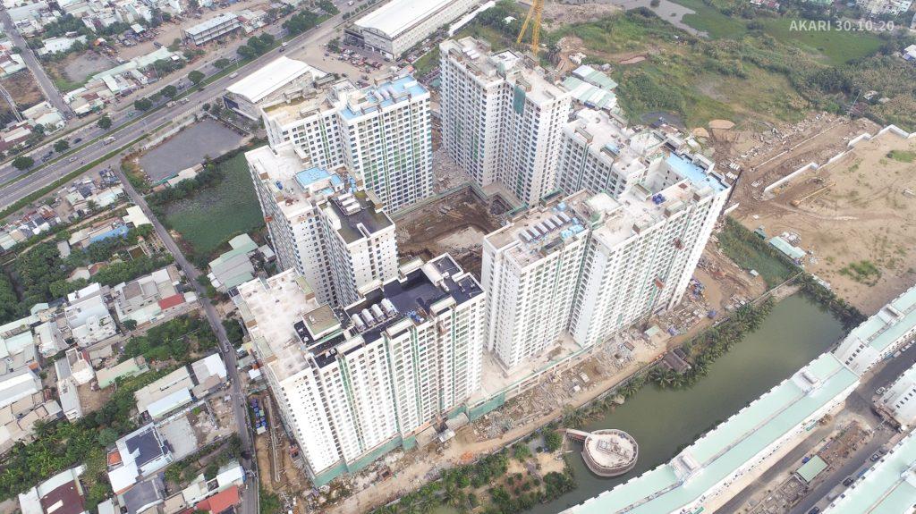 Tiến độ xây dựng Akari City - 10/2020